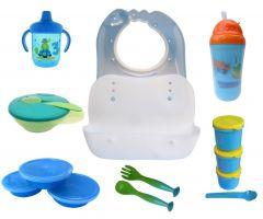 Set hranire bebe SH3/7 bleu Primii Pasi