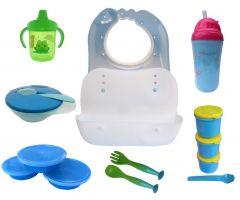 Set hranire bebe SH3/7 verde Primii Pasi
