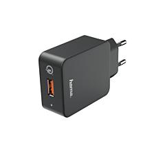 Incarcator Hama Qualcomm Quick Charge 3.0, negru