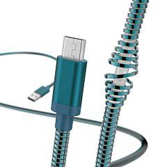 Cablu de incarcare/date Hama Micro USB Metal, 1.5 m, Albastru