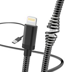 Cablu de incarcare/date Hama Lightning Metal, 1.5 m, Negru