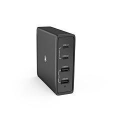 Dock de incarcare Hama, 65 W, 4 cai, 2x PD USB-C, 2x USB-A, negru