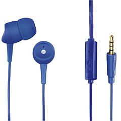 Casti audio Hama Basic4Phone, in-ear, microfon, albastru