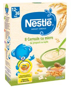 Cereale Nestle  8 Cereale cu Miere, 250g, de la 12 luni