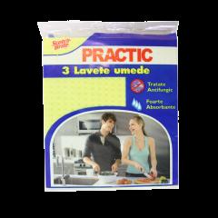 Lavete umede PRACTIC, 3 buc