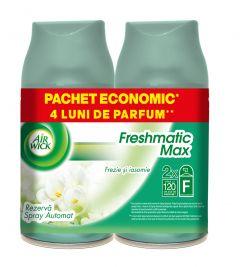 Rezerva odorizant automatic Air Wick Freshmatic Frezie si Iasomie, 2x250 ml