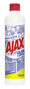 Detergent geamuri flacon geam Ajax Flowers of Spring, 500 ml