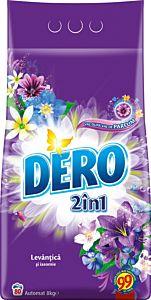 Detergent automat pudra Dero 2 in 1 Lavanda, 80 spalari, 8 kg