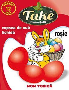 Vopsea lichida rosu Take pentru 12 oua