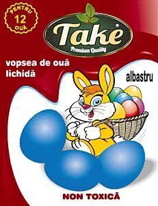 Vopsea lichida albastru Take pentru 12 oua