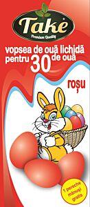 Vopsea lichida rosu Take pentru 30 oua + manusi cutie