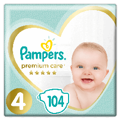 Scutece Pampers Premium Care, Marimea 4, 9-14 kg, 104 bucati