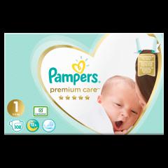 Scutece Pampers Premium Care, Marime 1, 2-5 kg, 108 buc