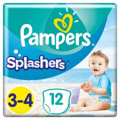 Scutece Pampers Splashers Marimea 3-4, 6-11 kg, 12 buc