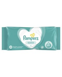 Servetele umede Pampers Sensitive, 52 buc