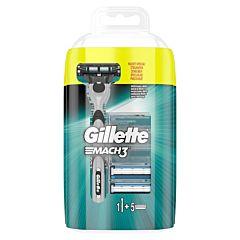 Pachet rezerve aparat de ras Gillette Mach3 Manual 4buc + aparat de ras gratis