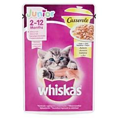 Hrana umeda pentru pisoi Whiskas Casserole Junior, cu pui in aspic, 85 g