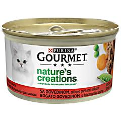 Hrana umeda pentru pisici cu vita Gourmet Nature's Creations 85g