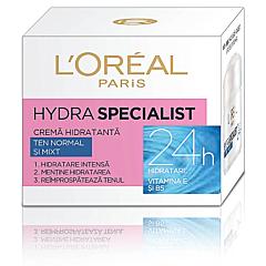 Crema hidratanta de fata pentru ten normal si mixt, L'Oreal Paris Hydra Specialist, 50ml