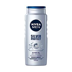 Gel de dus Nivea for Men Silver Protect, 500ml