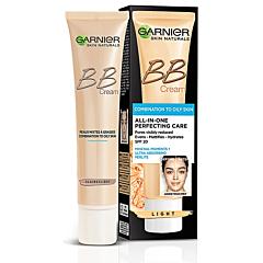 Crema pentru ten mixt si gras, nuanta deschisa, Garnier Skin Naturals BB All-in-one perfecting, 40ml