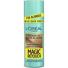 Spray instant pentru camulflarea radacinilor, L'Oreal Paris Magic Retouch Dark Roots, 7.3 blond mediu auriu, 75 ml