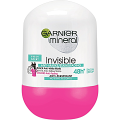Deodorant antiperspirant roll-on pentru femei, Garnier Mineral Invisible Fresh, 50ml