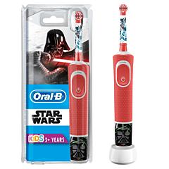 Periuta de dinti electrica pentru copii 7600oscilatii/min, curatare2D, 2programe, 4stickere incluse Oral-B D100 Vitality Star Wars 1capat