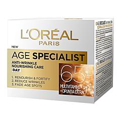 Crema de zi antirid pentru fata, L'Oreal Paris Age Specialist 65+, 50ml