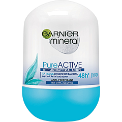 Deodorant antiperspirant roll-on pentru femei, Garnier Mineral Pure Active, 50ml