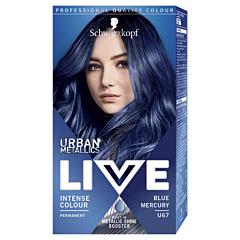 Vopsea de par permanenta Schwarzkopf LIVE Color Urban Metallics U67 Blue Mercury