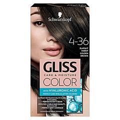 Vopsea de par Schwarzkopf Gliss Color 4-36 Saten Auriu, 142ml