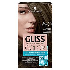 Vopsea de par Schwarzkopf Gliss Color 6-0 Saten Deschis Natural, 142ml