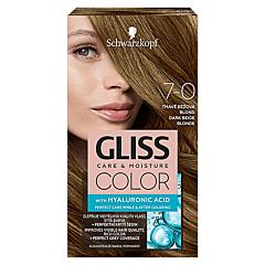Vopsea de par Schwarzkopf Gliss Color 7-0 Blond Bej Inchis, 142ml
