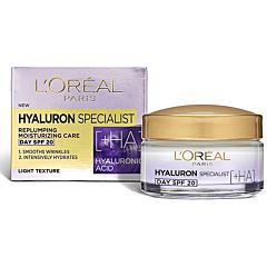 Crema de zi antirid hidratanta pentru volumul tenului, L'Oreal Paris Hyaluron Specialist, 50ml