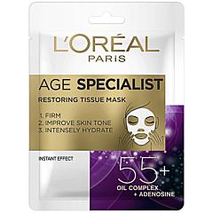 Masca servetel antirid pentru regenerare 55+, LOreal Paris Age Specialist, 30g