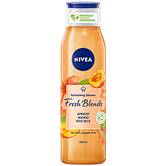 Gel de dus cu caise, mango si lapte de orez Nivea Fresh Blends 300ml