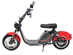 Moped Electric FreeWheel MotoRo M1, Rosu, Omologat RAR, Autonomie 60 Km, 45 Km/h, Motor 1500 W