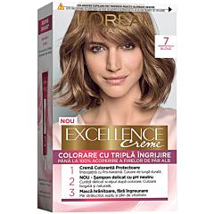 Vopsea de par L'Oreal Paris Excellence, 7 Blond, 192 ml