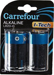 Set x 2 baterii LR20 I-Tech , Carrefour