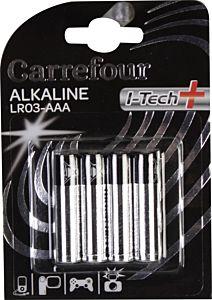 Set x 4 baterii AAA I-Tech, Carrefour