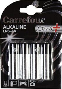 Set x 4 baterii AA LR6 I-Tech, Carrefour