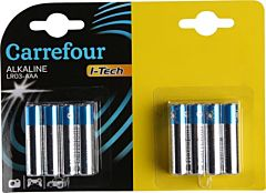 Pachet economic 16 baterii AAA/LR03 I-Tech, Carrefour