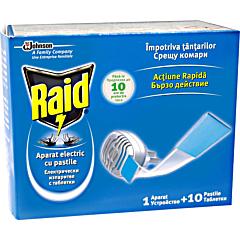 Aparat electric Raid cu 10 pastile
