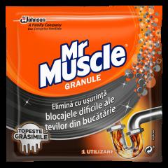 Granule pentru desfundat tevi Mr Muscle, 50g