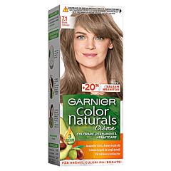 Vopsea de par permanenta, Garnier Color Naturals, 7.1 Blond Cenusiu, 110 ml