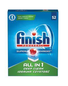 Detergent tablete pentru masina de spalat vase Finish All in One, 52 buc