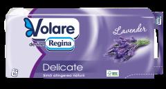 Hartie igienica Volare Delicate Lavender, 10 role, 3 straturi