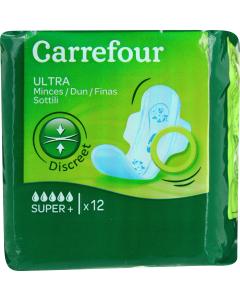 Absorbante igienice Carrefour, 12 buc