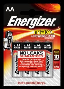 Set x 4 baterii Energizer Max Alkaline Power E91 LR6